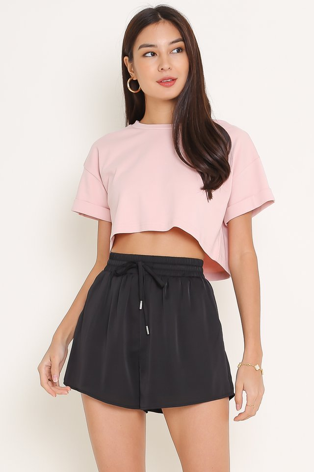 CASSIE CROPPED TOP (CANDY PINK)