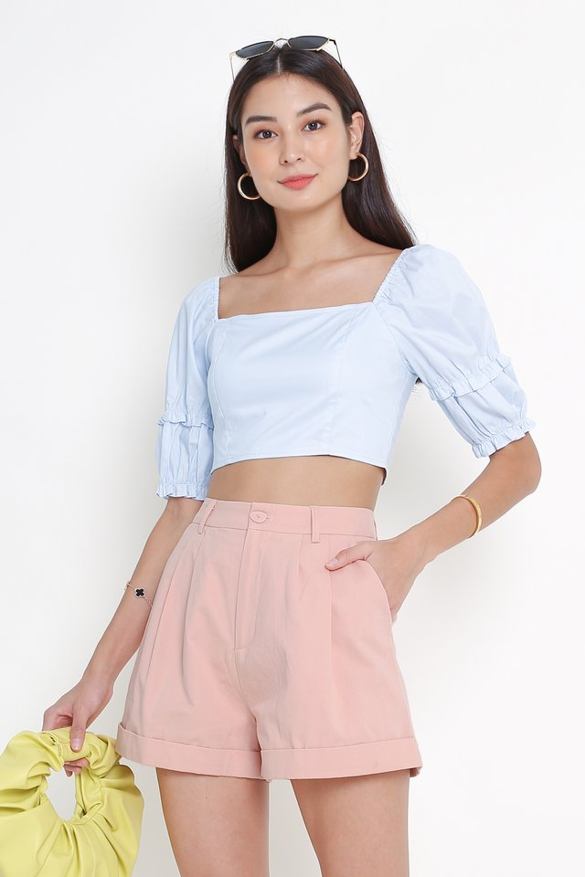 FAWN FRILL TOP (BABY BLUE)